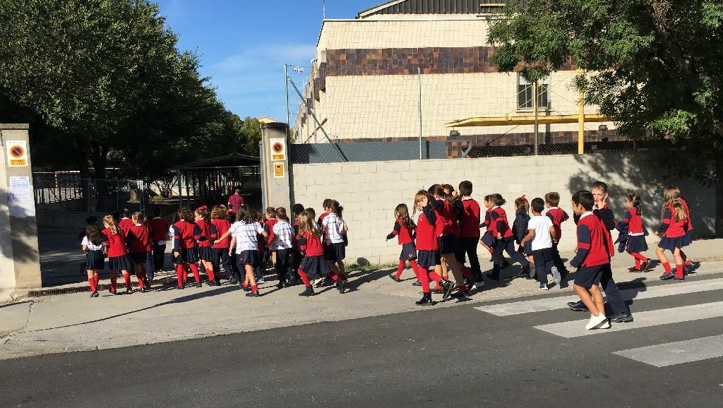 Simulacro de emergencias en el Colegio Apóstol Santiago