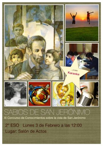 """Concurso """"Sabios de san Jerónimo"""" (2º ESO)"""