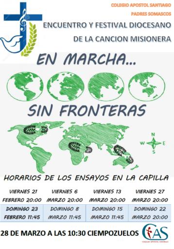 """CANCELADA Canción Misionera 2020 """"En marcha... sin fronteras"""" (Ciempozuelos)"""