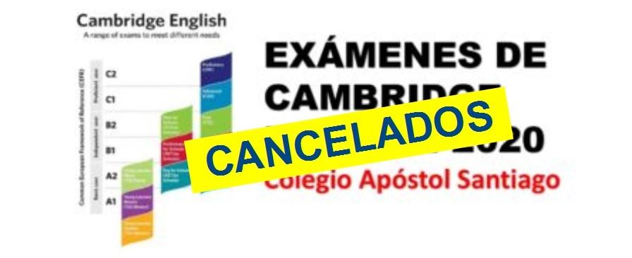 Se cancelan los exámenes de Cambridge de este curso en el centro
