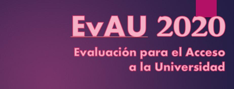 Nuevas fechas EvAU 2020