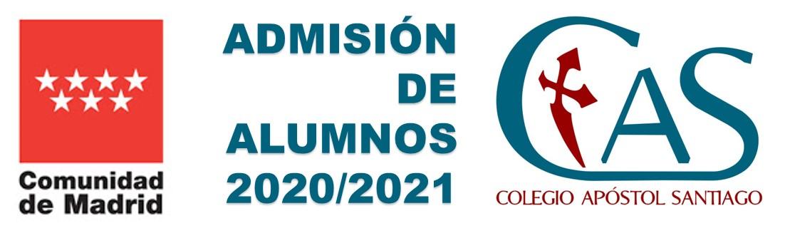 Proceso ordinario de ADMISIÓN DE ALUMNOS 2020/2021