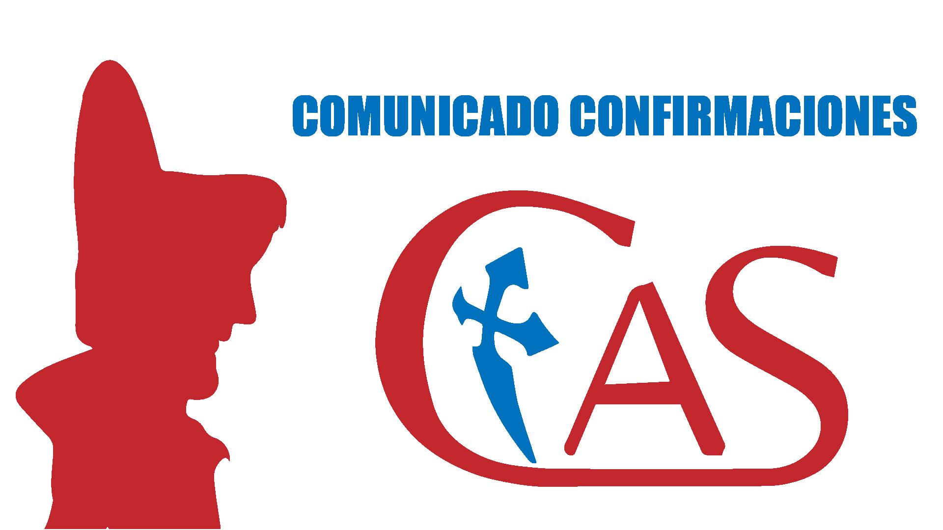 COMUNICADO FECHA CONFIRMACIONES
