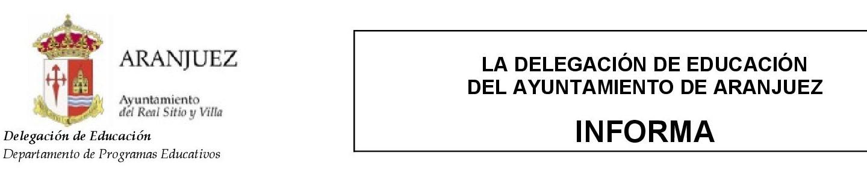 Actividades socioeducativas del Ayuntamiento de Aranjuez